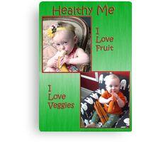 Healthy me Canvas Print