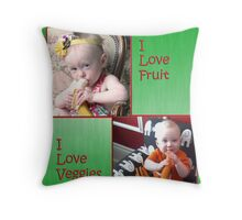 Healthy me Throw Pillow