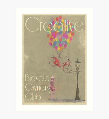 Creative Bicycle Owners Club Art Print