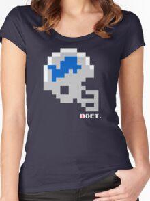 Tecmo Bowl - Detroit Lions - 8-bit - Mini Helmet shirt Women's Fitted Scoop T-Shirt