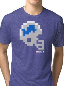 Tecmo Bowl - Detroit Lions - 8-bit - Mini Helmet shirt Tri-blend T-Shirt