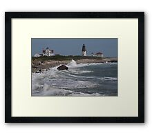 Point Judith Light House and Coast Guard Statiion Framed Print