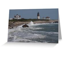 Point Judith Light House and Coast Guard Statiion Greeting Card