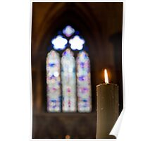 Stained Glass by Candle Light Poster