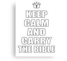 The Bible Canvas Print