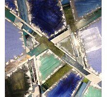Blocks of Blue Photographic Print
