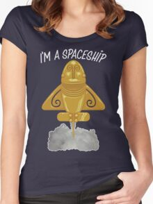 I'm a spaceship Women's Fitted Scoop T-Shirt