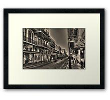 French Quarter Morning Framed Print