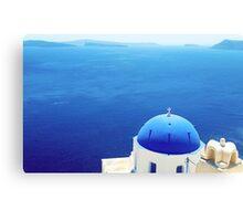 Grecian Chapel, Oia, Santorini  Canvas Print