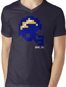 Tecmo Bowl - San Diego - 8-bit - Mini Helmet shirt Mens V-Neck T-Shirt