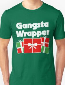 Gangsta Wrapper funny christmas humor T-Shirt