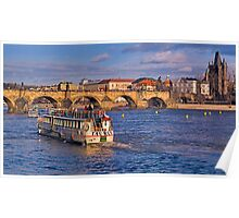 Approaching the Charles Bridge Poster