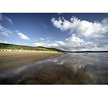 Woolacombe beach reflections Photographic Print