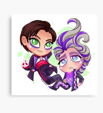Chibi Time! Poison & Joe Canvas Print