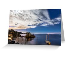 Moonlight over Eagle Harbour  Greeting Card