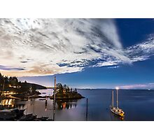 Moonlight over Eagle Harbour  Photographic Print