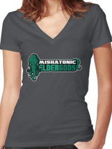 Miskatonic University Elder Gods (Full Logo) Women's Fitted V-Neck T-Shirt