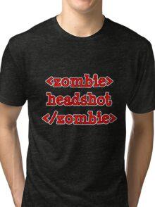 <zombie> headshot </zombie> Tri-blend T-Shirt