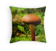 Little Brownie Mushroom Throw Pillow
