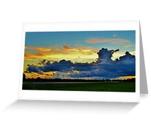 Sunset Cloud Cover Greeting Card