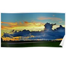 Sunset Cloud Cover Poster