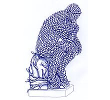 The Thinker in Blue Photographic Print