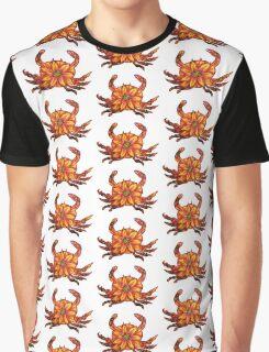 Crab Flower Graphic T-Shirt