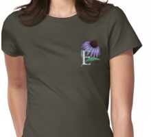 E is for Echinacea - patch Womens Fitted T-Shirt