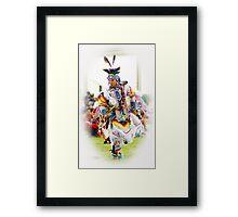 Dancing Colors Framed Print