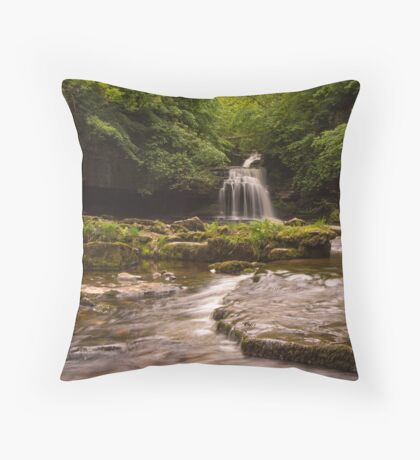 Dales Waterfall (viewed 102 times) Throw Pillow