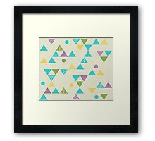 Colorful Triangles Framed Print