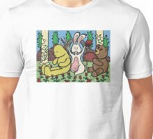 Teddy Bear And Bunny - Coin In The Back Of Yellow Bear's Head Unisex T-Shirt