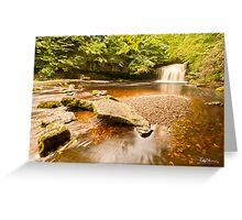 Clear Water at West Burton Greeting Card