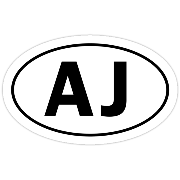 AJ - Oval Identity Sign by Ovals