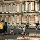 Visitors leaving Versailles 19570914 0036  by Fred Mitchell