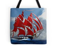 The Clipper Ship Indian Queen Races for Home Tote Bag
