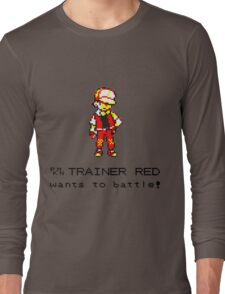 Pokemon Trainer Red  Long Sleeve T-Shirt