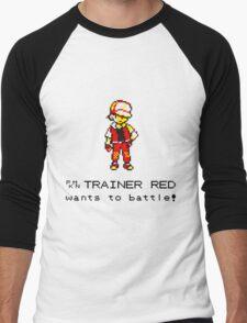 Pokemon Trainer Red  Men's Baseball ¾ T-Shirt