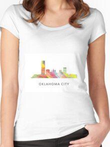 Oklahoma City, Oklahoma Skyline WB1 Women's Fitted Scoop T-Shirt