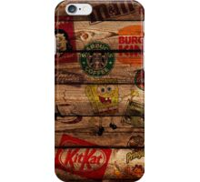 WOODEN WALL OF BRANDs iPhone Case/Skin