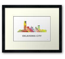 Oklahoma City, Oklahoma Skyline WB1 Framed Print