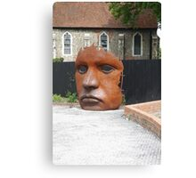 Face Sculpture in Canterbury Canvas Print