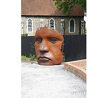 Face Sculpture in Canterbury Photographic Print