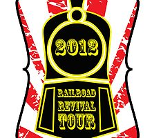 Railroad Revival Tour 2012 T-shirt Design by Matt Hagland