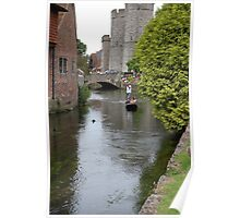 Punting on the River Stour Poster