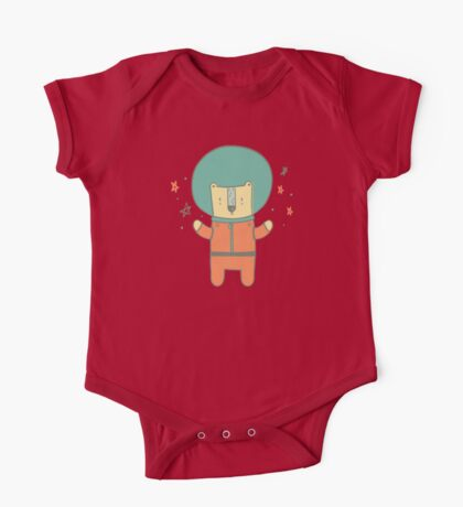 Bearly There in Dreamsickle  One Piece - Short Sleeve