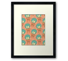 Bearly There in Dreamsickle  Framed Print