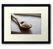 wooden spoon Framed Print
