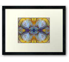 X-Wing (Laguna Lace Agate) Framed Print