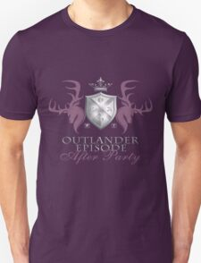 Outlander After Party Shield- Rose/Silver Unisex T-Shirt